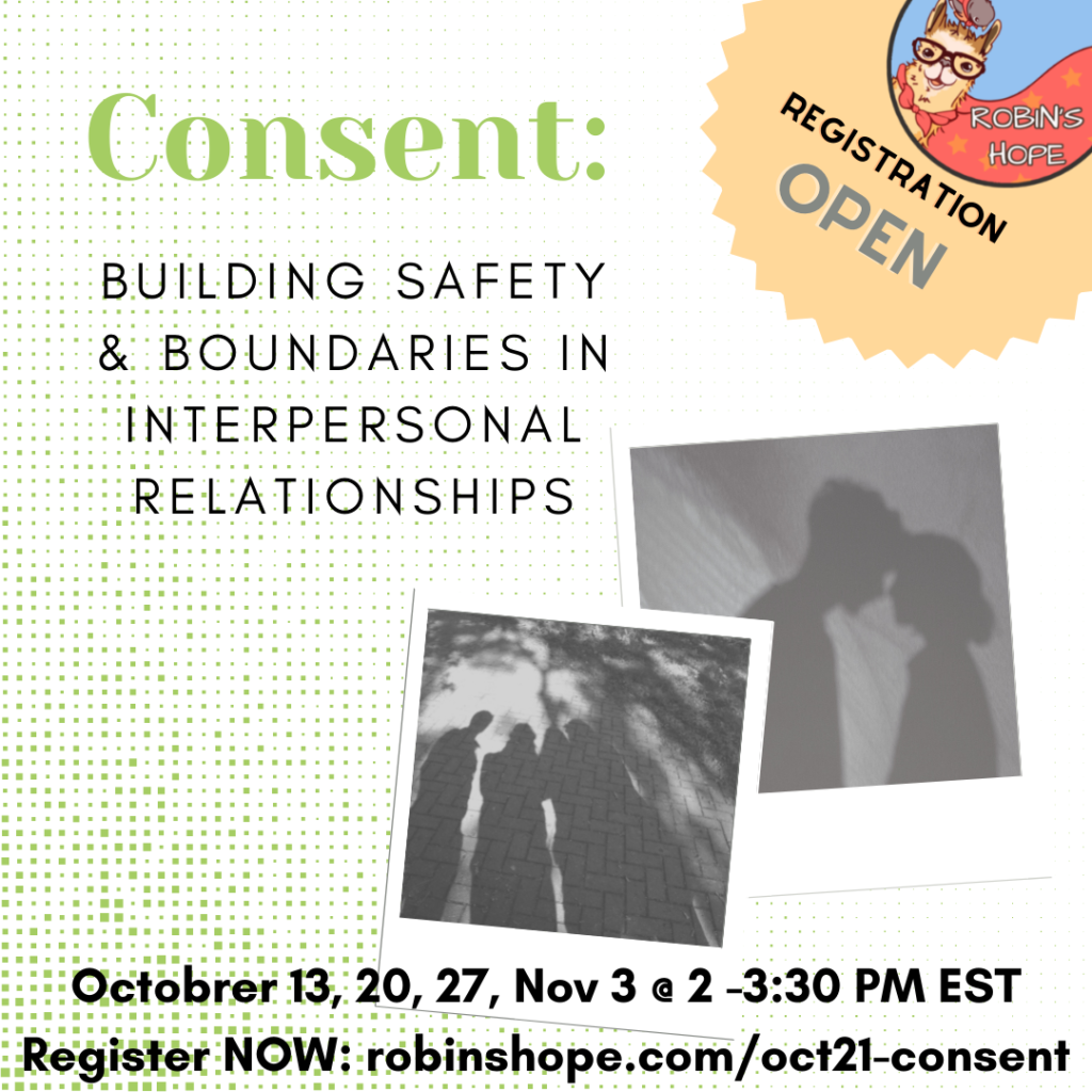 October registration for Consent Boundaries group is open, click to register